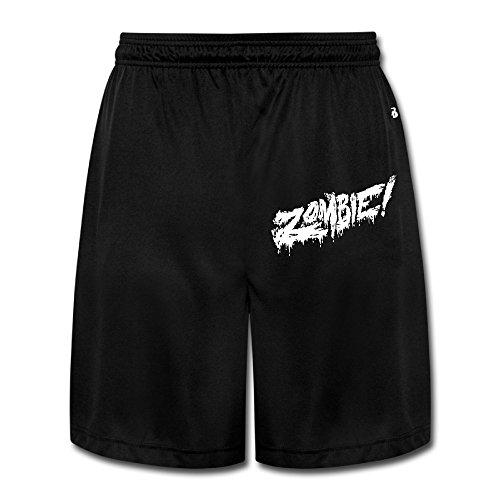 Logon 8 Men's Flatbush Zombies Logo Funny Performance Shorts Sweatpants Black - Mary Bloody Origin