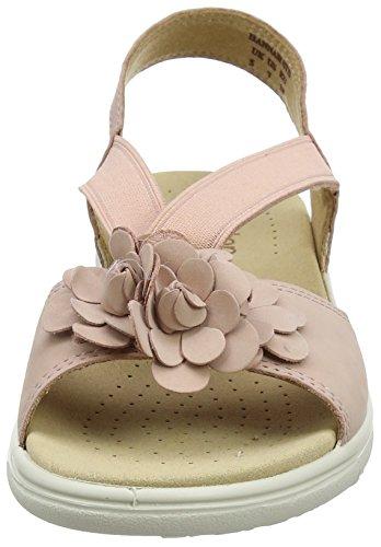 Pink Sandalen Damen Offene Powder Keilabsatz Hotter Hannah Pink mit 123 PvSaqgYw