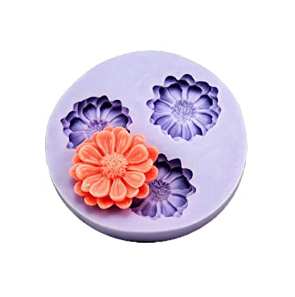 3-hole Flower Silicone Resin Clay Molds Handmade Resin Mold Polymer Clay Mold