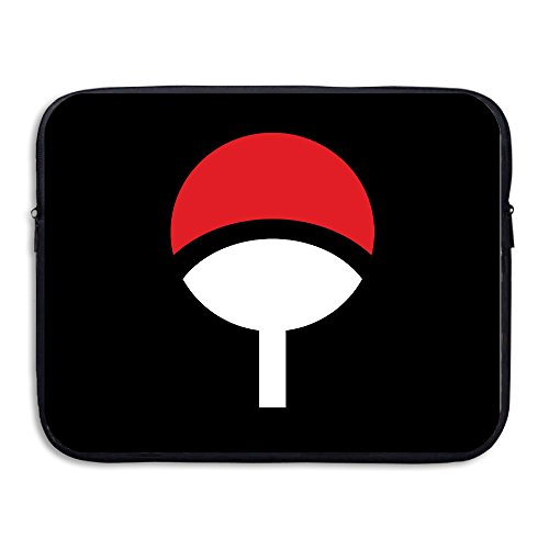 VOLTE Uchiha Family Logo Japanese Comic Naruto Shippuden Anti-shock Tablet Zipper Case Bag Size 13 Inch -