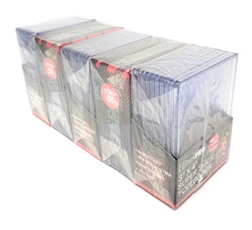 (Ultra Pro 5 130pt Top Loader Packs - 10 Toploaders Per Pack (50 Total) - Thick Baseball, Basketball, Hockey, Football Cards (Ie)