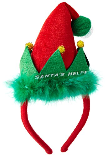 [Santa's Helper Headband Party Accessory (1 count) (1/Pkg)] (Elf Hats For Adults)