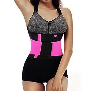 Welcos Women's Waist Cincher Trainer Body Belt Shaper Workout Gym Slimming Girdle Corset Shapewear Rose M