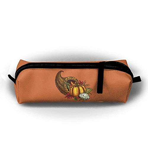 Harvest Pencil (BHRETI Pencil Case Makeup Bag Harvest Season Canvas Holder Pen Case Cosmetic with Zipper Stationery Bag)