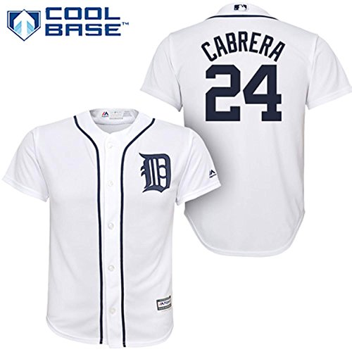 Miguel Cabrera Detroit Tigers White Infants Cool Base Home Jersey (24 Months) ()