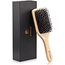 Hair Brush-Sosoon Boar Bristle Hairbrush for Long,Thick,Curly,Wavy,Dry or Damaged Hair,Reducing Hair Breakage and Frizzy,No More Tangle-Beard Comb&Giftbox Inclued …