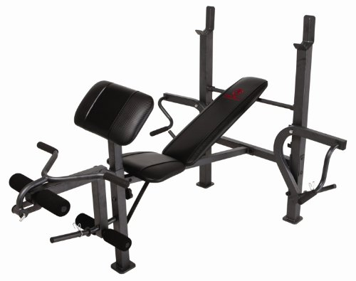 Marcy Standard Weight Bench with Butterfly and Leg Developer Multifunctional Workout Station for Home Gym MD-389 by Marcy