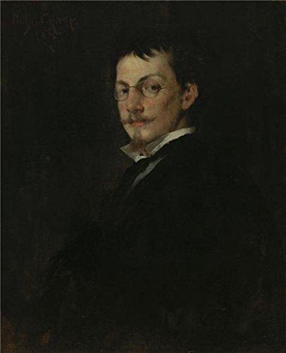 Oil Painting 'William Merritt Chase,Baron Hugo Von Habermann,1875' 18 x