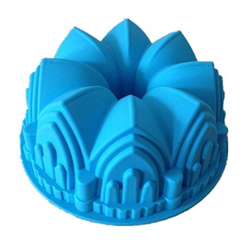 Allforhome (TM) Big Crown Silicone Cake Baking Mold Bundt Pans Cake Pan Bakeware Tray Moulds