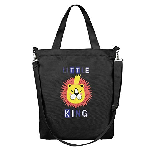 Little Baby King Slogan With Lion Face Crown 12.5