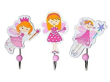 Set de tres ganchos con figuras de hadas para la habitación de las niñas: Amazon.es: Bebé