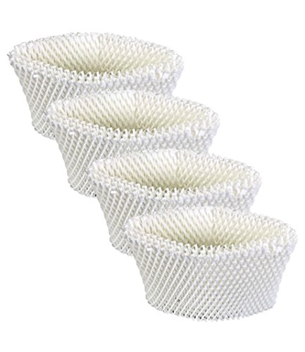 4 Replacements for Vicks WF2 Humidifier Filter Fits V3500N, V3100, V3900 Series, V3700, 1118 Series & HCM-350 Series, Compatible With # WF2, by Think Crucial