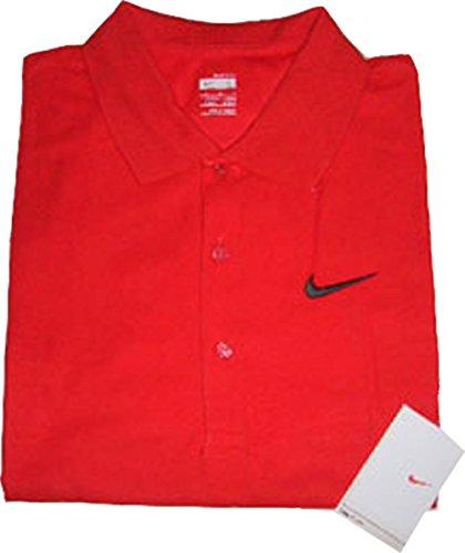 Polo a maniche corte Nike Dri-fit SS Cotton Pique rosso 350963-600 Large