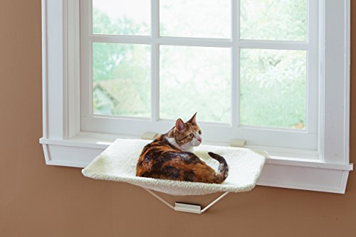 TabbyNapper Cat Window Perch - For Small, Large & Muliple Cats | Easy to Install No Tools Needed | Fits Any - Double Cat Perch