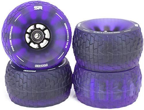 Slick Revolution Electric Skateboard Wheels Foamies 120mm | Patent Pending Foam Core | 78A Translucent Urethane | Revolutionise Your Ride (Electric Purple)