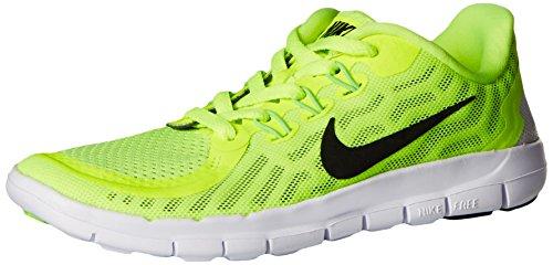 Nike Kids Free 5.0 (gs) Scarpa Da Corsa Volt / Nero