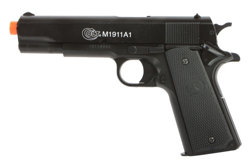 Soft Air Colt Spring Pistol with Metal Slide, Black