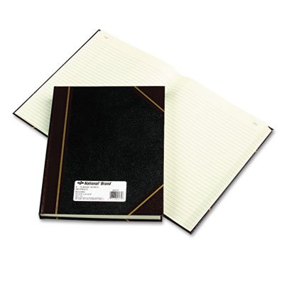 Rediform 56231 Texhide Accounting Book, Black/Burgundy, 300 Green Pages, 10 3/8 x 8 3/8