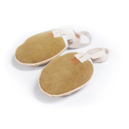 Genuine Shoes Lyrical Ballet Pink Toe Women Leather Dance Nude Half U6ETwT8qx