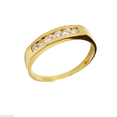 Bague Alliance VERETTA Femme Or 18cts-750avec diamants naturels 0.18ct F VVS