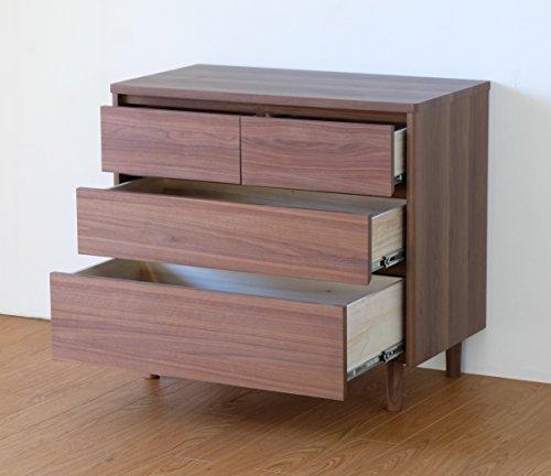 ISSEIKI【選べる3サイズ】チェストミドルブラウン幅80cm収納木製家具【MS-69-2】