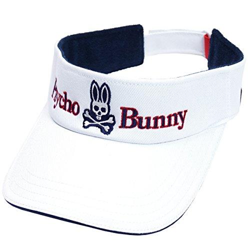 サイコバニー PSYCHO BUNNY 帽子 ゴルフサンバイザー PHMG702F ホワイト フリー