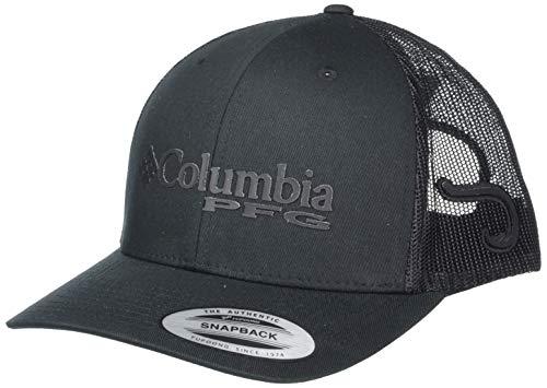 Columbia Unisex PFG Mesh Snap Back Ball Cap,Black, Hook