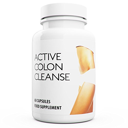 Active Colon Cleanse: Detox Capsules Daily Power Cleanse with Aloe Vera Supports Natural Weight Loss. 60 Capsules Made in the UK.