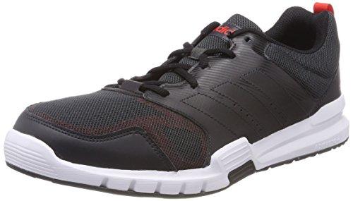 adidas Herren Essential Star 3 Laufschuhe Mehrfarbig (Carbon S18/Core Black/Hi-res Red S18)