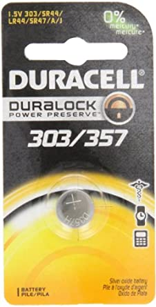 Bulbtronics Duracell 0002786 Silver Oxide Battery, 303/357 Cell, 165mAh Capacity, 1.5V (Case of 24)