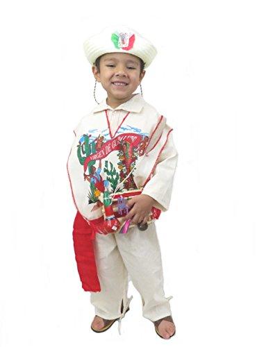 Juan Diego Guadalupe - Ethnic Identity Traje de Juan Diego Guadalupana Suit Complete for Boys (Boys Size 6)