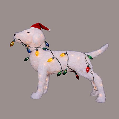 """Northlight 28.5"""" 3-D Standing Decorative Dog Lighted Christmas Outdoor Decoration from Northlight"""