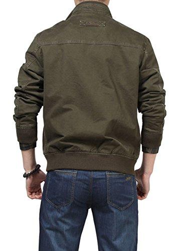 SZYYSD ArmyGreen hombre chaqueta Chaqueta para 2232 HawxUHrq