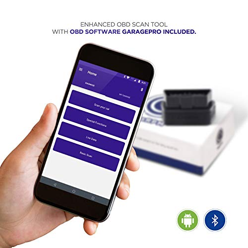 CaRPM Bluetooth OBD Scan Tool & Android App- Engine, ABS, Airbag, EPS, BCM and Other Enhanced Diagnostics. Read & Erase Fault Codes from All modules, I/M Readiness, Live Data. Supports All 1996+ Cars