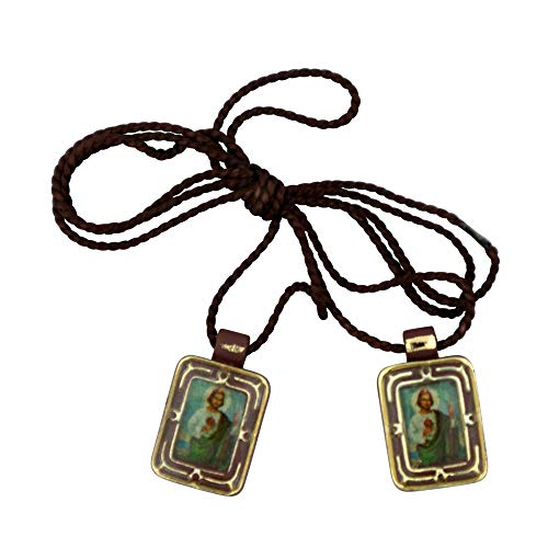 VILLAGE GIFT IMPORTERS Small Mini Economy Scapulars | Over 15 Different Subjects Saints | Perfect for Kids or Groups | Christian Jewelry (Saint Jude)