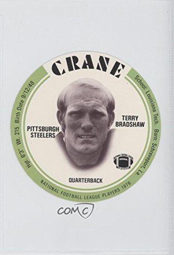 Terry Bradshaw Other ENCASED IN SLAB (Football Card) 1976 MSA NFL Player Discs - [Base] - Crane Potato Chips #TEBR