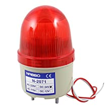 uxcell® DC 24V Industrial Flash Strobe Light Emergency Warning Lamp Bulb Red N-2071