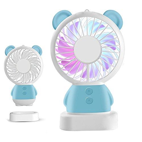 Handheld Mini Fan LED Light Fan Thin Cooling Fan Portable Rechargeable Fan...