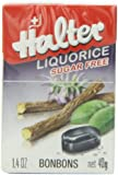 Halter Sugar Free Candy, Licorice, 1.4-Ounce Boxes (Pack of 8)