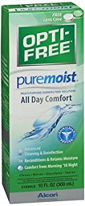 Opti-Free Puremoist Multi-Purpose Disinfecting Solution - 10 oz, Pack of 2