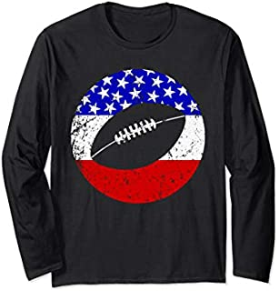 Best Gift American Flag Football Vintage Retro Football Long Sleeve  Need Funny TShirt / S - 5Xl