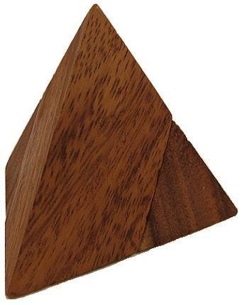 2 Pieces Pyramid Wooden Puzzle (Puzzle Wood Pyramid)
