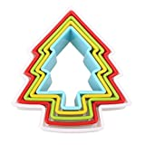 1 piece 5Pcs/Set Christmas Tree Shaped Cookie Biscuit Mold Baking Tool Multicolor