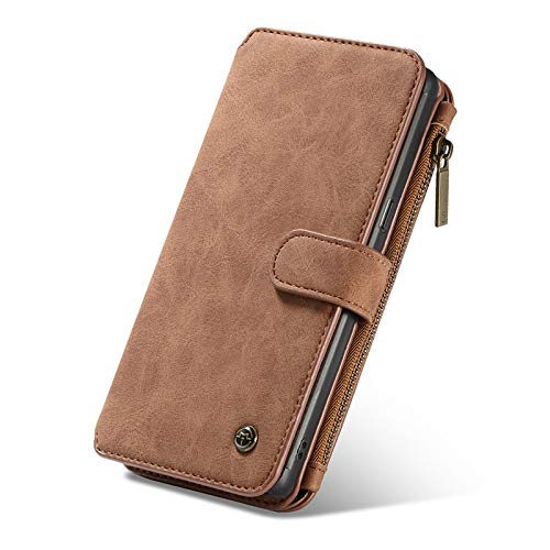 elecfan Galaxy Note 9 Screen Protective Wallet Case, PU Leather Smart Wallet Folio Case with Credit Card Slots/Accessories Pockets/Hand Strap Protective Cover 2018 Samsung Galaxy Note 9 - Light Brown by elecfan
