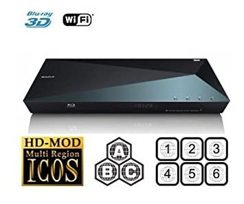 SONY 2D/3D BDP-S5100 All Zone Multi Region DVD Blu ray Player w Built in 2.4Ghz Wi-Fi: Amazon.es: Electrónica