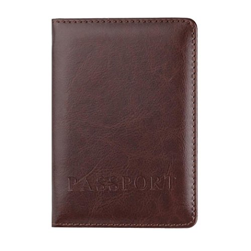 - Hot Sale! Neartime Wallet, 2018 Unisex Leather Passport Holder Cover Case Blocking Travel Letter Coin Bags (❤️9.8cm(L)×1cm(W)×14.2cm(H), Coffee)