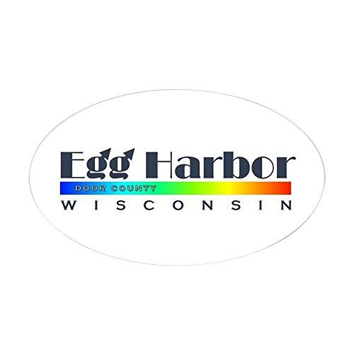 (CafePress Egg Harbor, Wisconsin Door County Rainbow Sticker Oval Bumper Sticker, Euro Oval Car Decal)