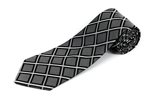 Gray Silk Extra Long Ties - 9