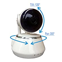 ZEBORA P2P 1280x720 Resolution (720P) HD Pan&Tilt Two-Way Audio and Night Vision Wireless IP/Network Internet Surveillance Camera, Baby Monitor, Home Security built-in Microphone with Cell Phone Remote Monitoring