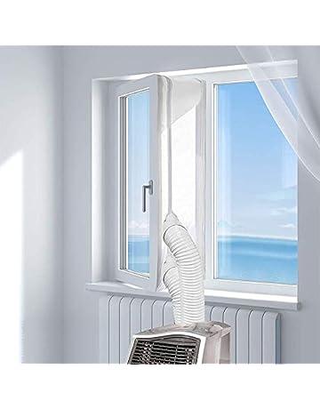 Hot Air Stop zum Anbringen an Fenster 90x210 CM Dachfenster KIRNER Fensterabdichtung f/ür mobile Klimager/äte W/äschetrockner Fl/ügelfenster Ablufttrockner Klimaanlagen